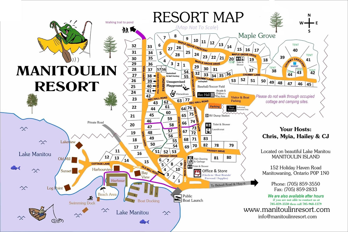 Manitoulin Resort Park Map