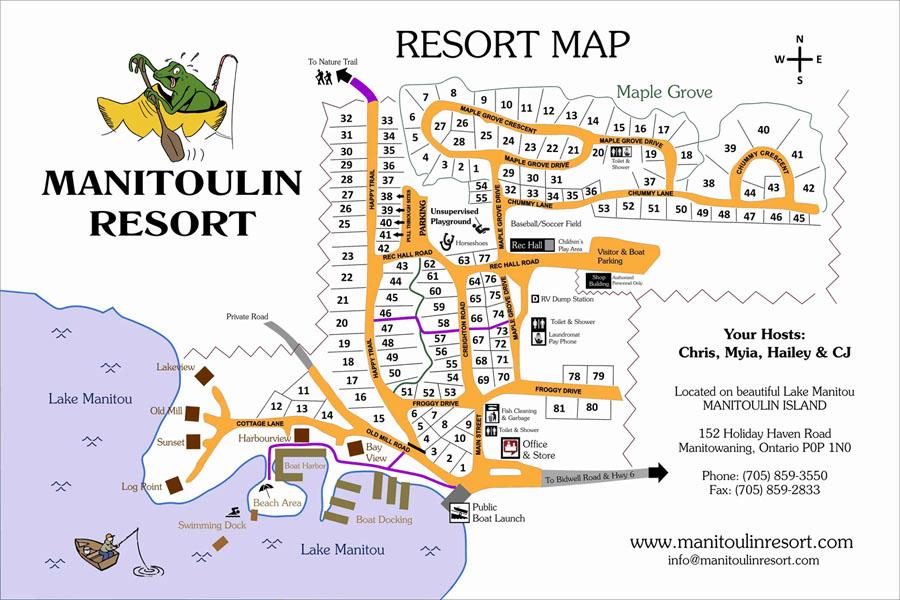 Manitoulin Resort Park Map